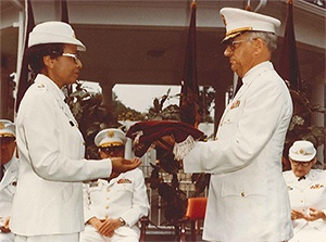 Hazel Johnson-Brown - Receiving Rank of Brigadier General