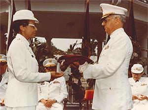 Hazel Johnson-Brown - Receiving Rank of Brigadier General