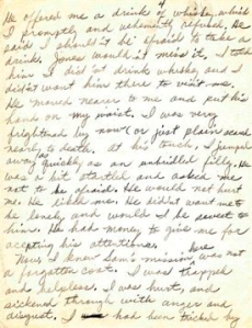 Excerpt of document detailing attempted rape of Rosa Parks in 1931