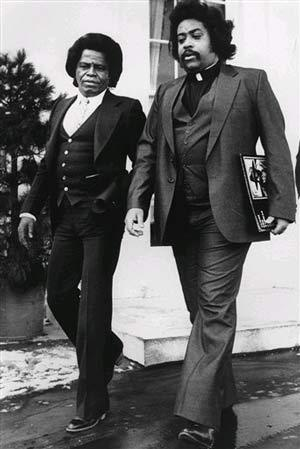 Al Sharpton and James Brown