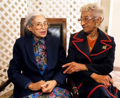 Rosa Parks and Mahala Ashley Dickerson