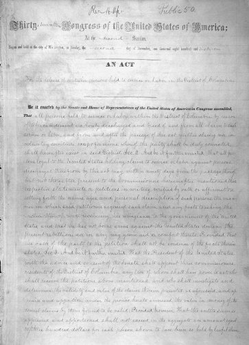 District of Columbia Emancipation Act - Page 1